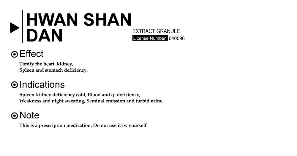 HWAN SHAN DAN